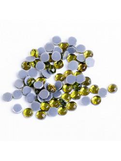 Зелени камъни за залепване 2 мм. 1000 броя