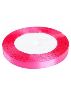 Розова сатен лента 1 см. 25 ярда