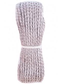 Сребрист полиестерен шнур