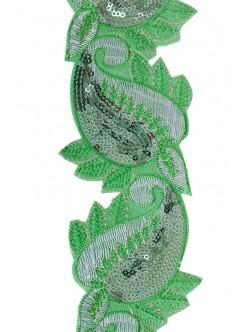 Декоративен ширит със залепване - зелен