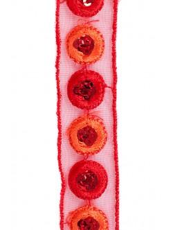 Декоративен ширит - червен 2 см.