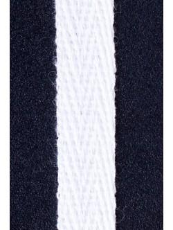 Памучен ширит - рибена кост бял 1 см.