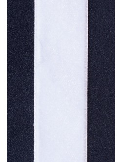 Кадифе лента - бяла 2 см.