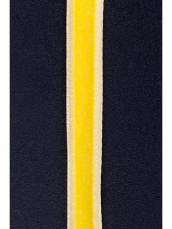 Кадифе лента - жълта 1 см.