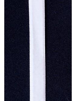 Кадифе лента - бяла 1 см.