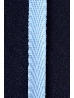 Памучен ширит - син 1 см.