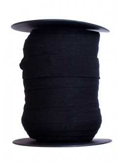 Еластична веревна лента - черна