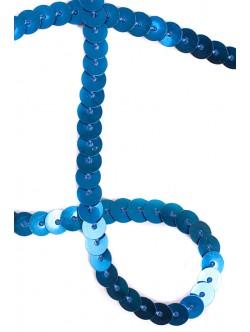 Ширит с пайети на метър - сини