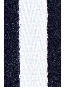 Бял памучен ширит 2 см. - рибена кост