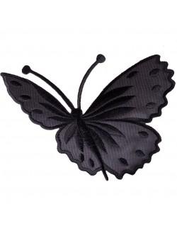 Апликация с пеперуда - черна дясна