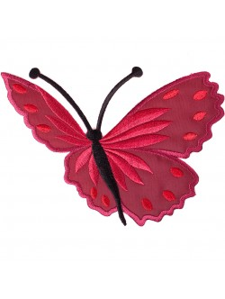 Апликация с пеперуда - червена дясна