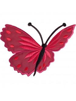 Апликация с пеперуда - червена лява