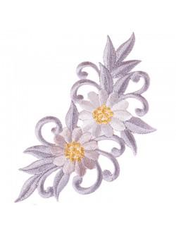 Апликация с цвете - сива дясна