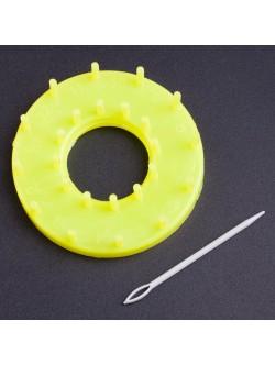 Обла форма за плетене 9 см. жълта