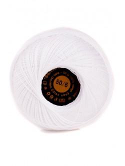 Памучно тире 50/6 бяло