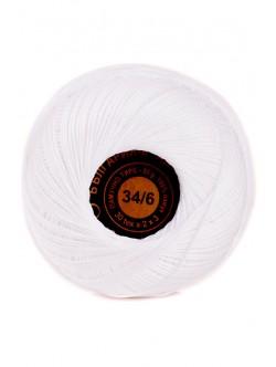 Памучно тире 34/6 бяло