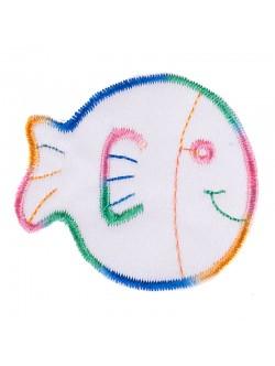 Апликация със зашиване - риба