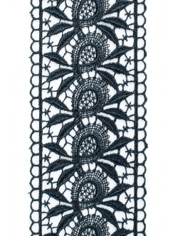 Черна брюкселска дантела