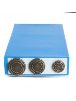 Оксидирани метални копчета - скрито зашиване