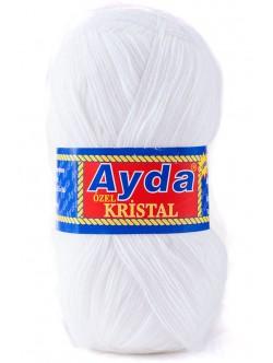 Прежда Айда Кристал бяло