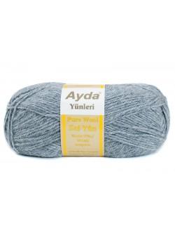 Прежда с вълна Ayda - сива