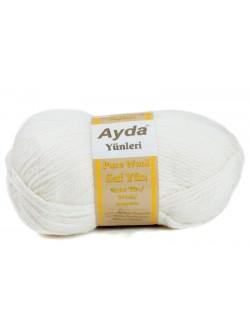 Прежда с вълна Ayda - бяла