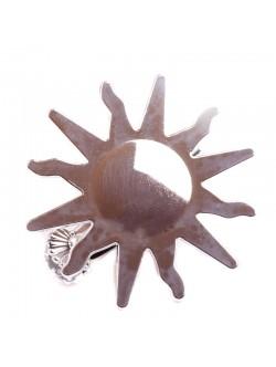 Щипка за перде - сребристо слънце