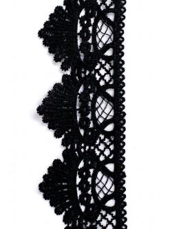 Черна памучна дантела 60 мм.