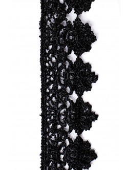 Черна памучна дантела 40 мм.