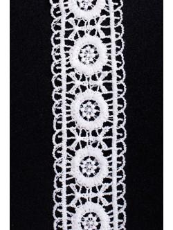 Бяла памучна дантела 40 мм