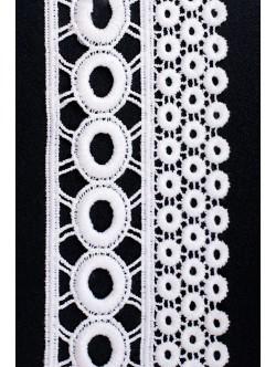 Бяла памучна дантела 75 мм.