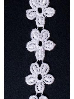 Памучна дантела цвете 25 мм.