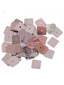 Сребристи квадратни пайети