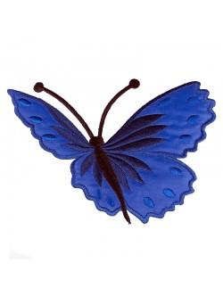 Синя апликация с пеперуда - дясна