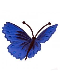 Синя апликация с пеперуда - лява