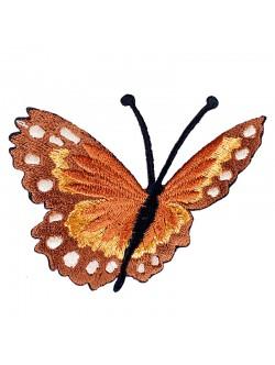 Кафява пеперудка със залепване - лява