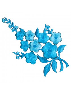 Синьо цвете за залепване - ляво